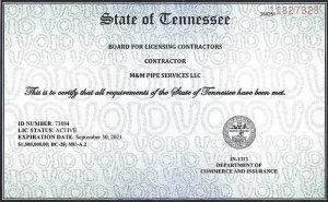 M & M Contractor License700x